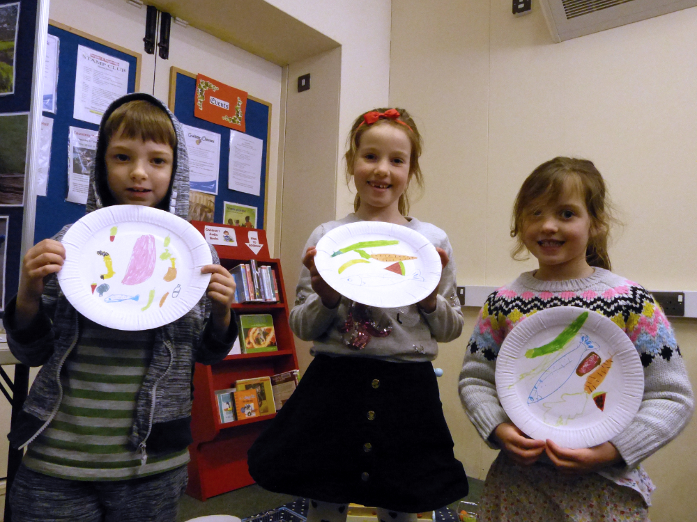 Children with What's On Your Plate Drawings
