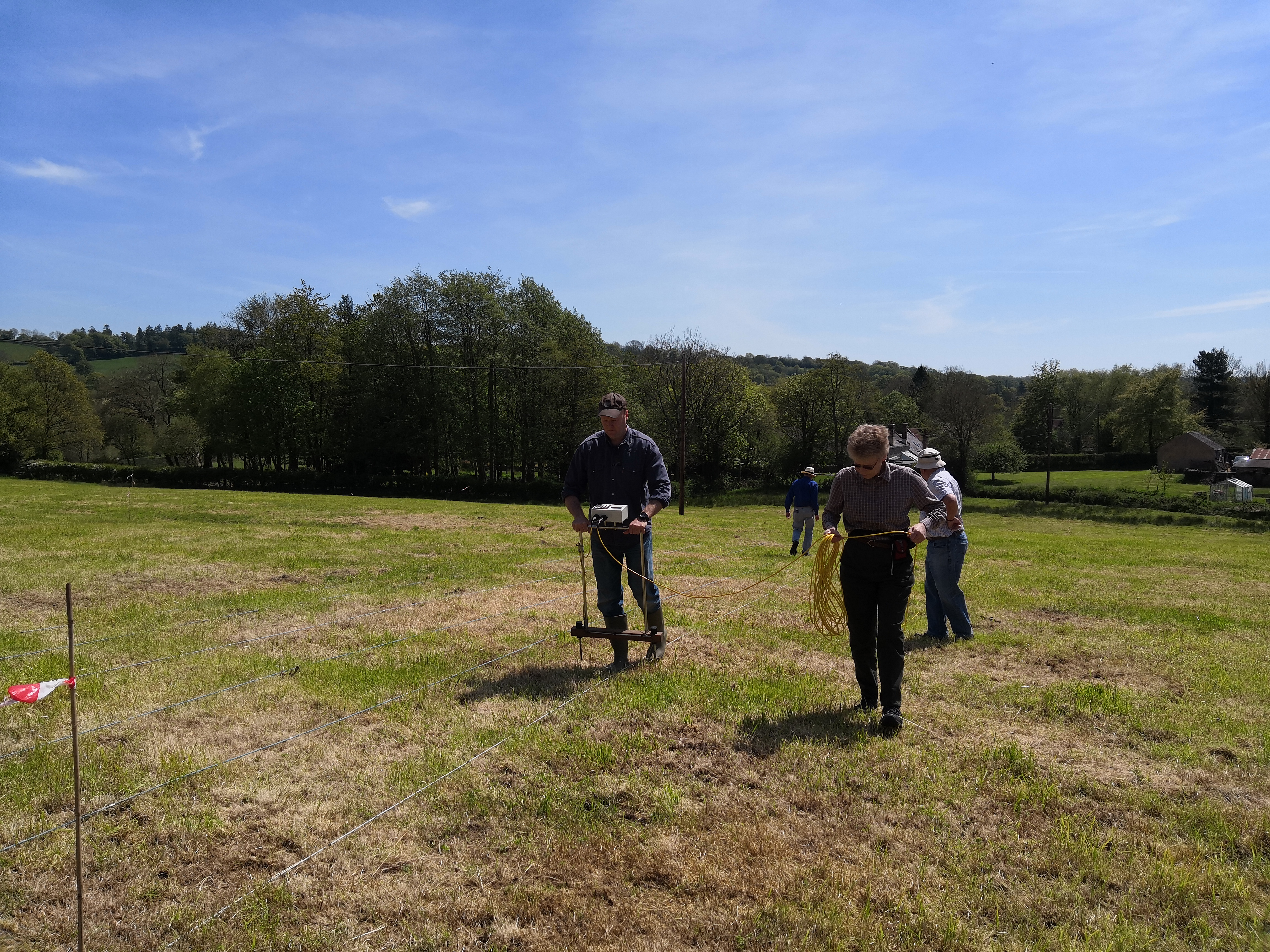 Geophysical survey near Dunkeswell Abbey, Devon