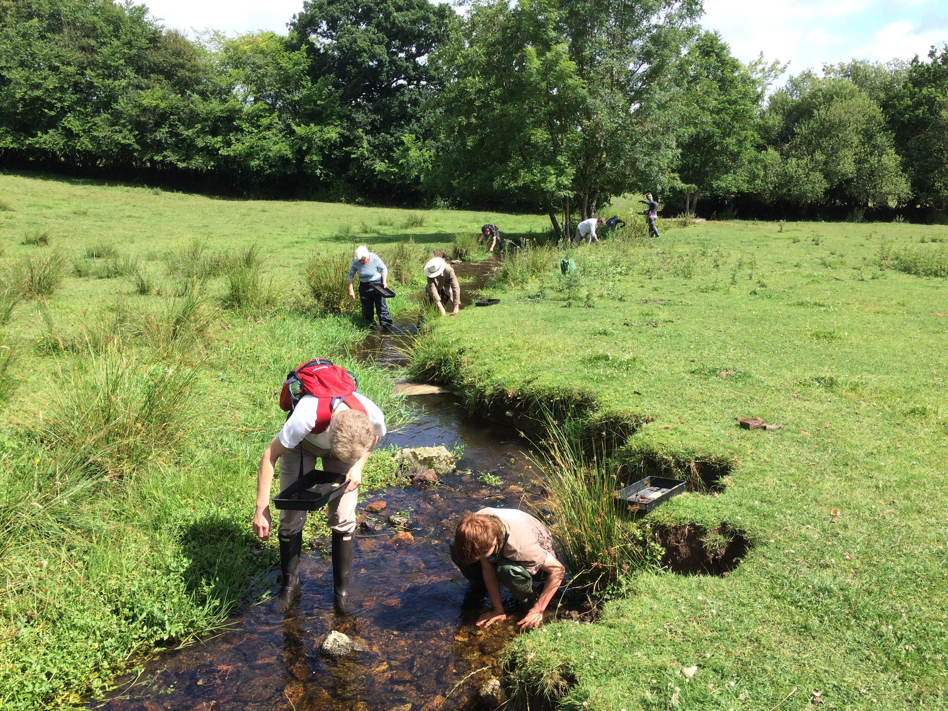River walking survey Dunkeswell Abbey